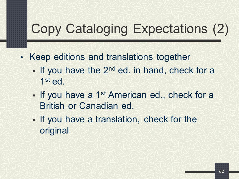 Copy Cataloging Expectations (2)