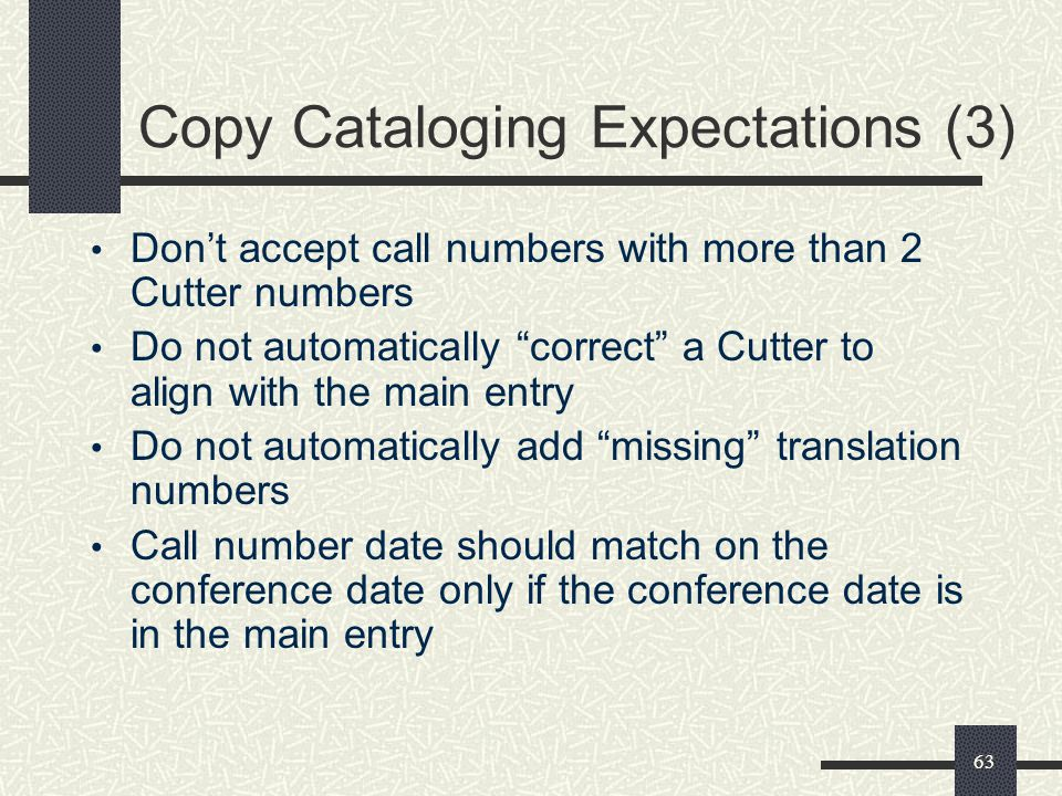 Copy Cataloging Expectations (3)