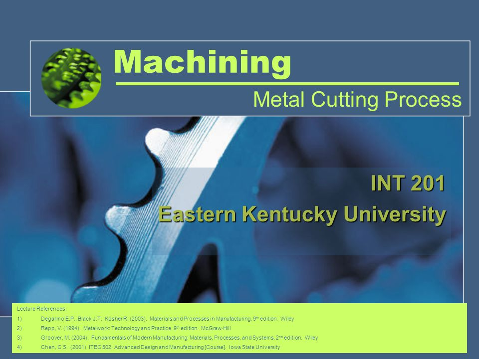 INT 201 Eastern Kentucky University