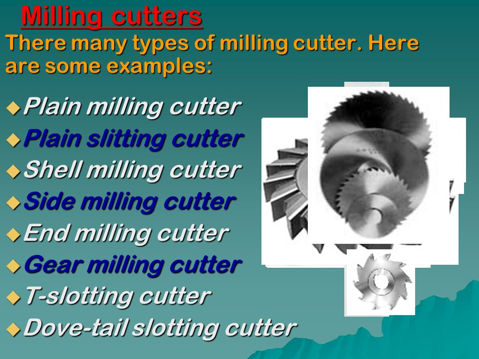 Milling cutters Plain milling cutter Plain slitting cutter