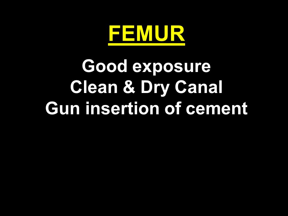 Gun insertion of cement