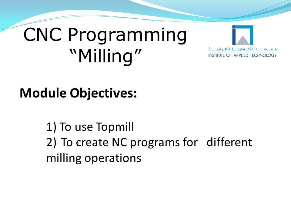 CNC Programming Milling