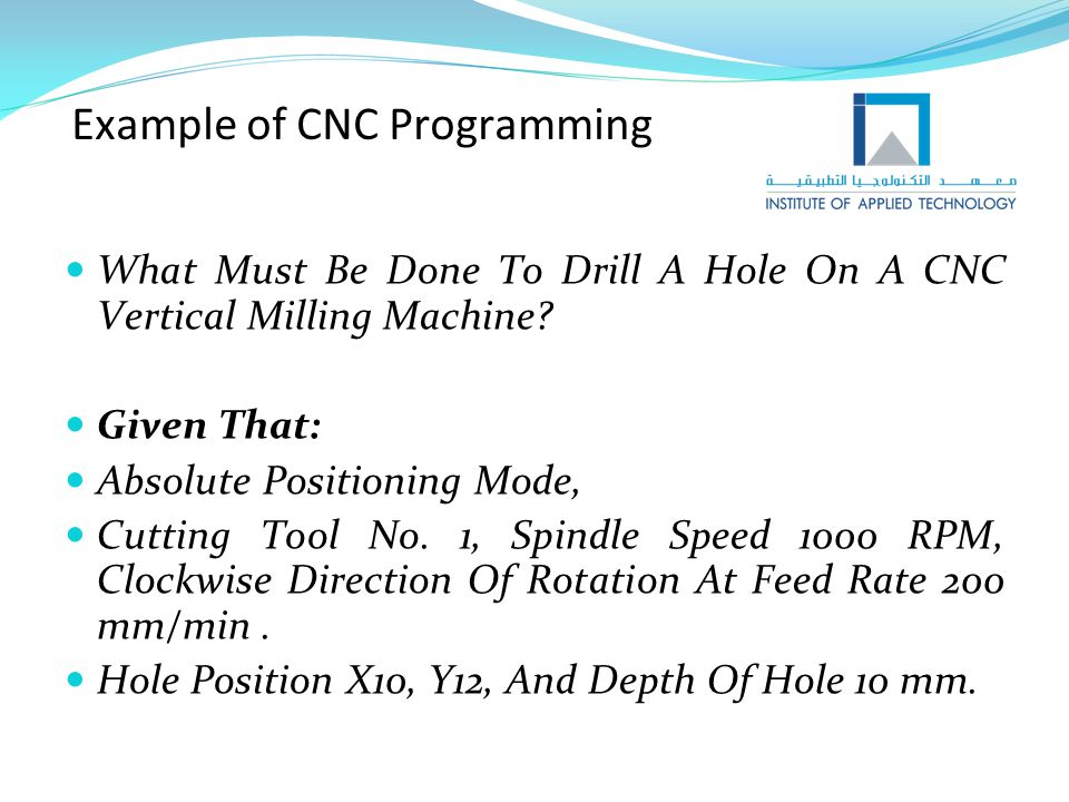 Example of CNC Programming