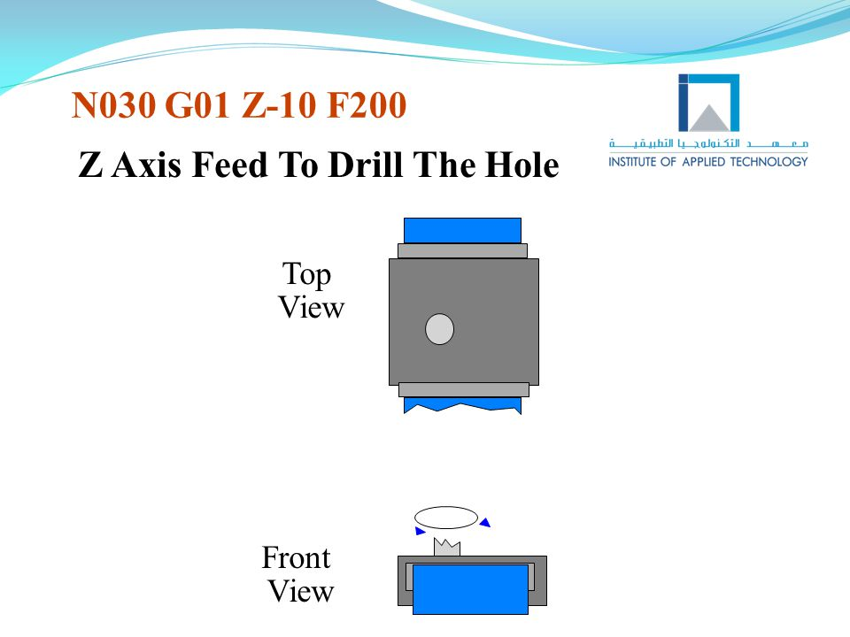 Z Axis Feed To Drill The Hole