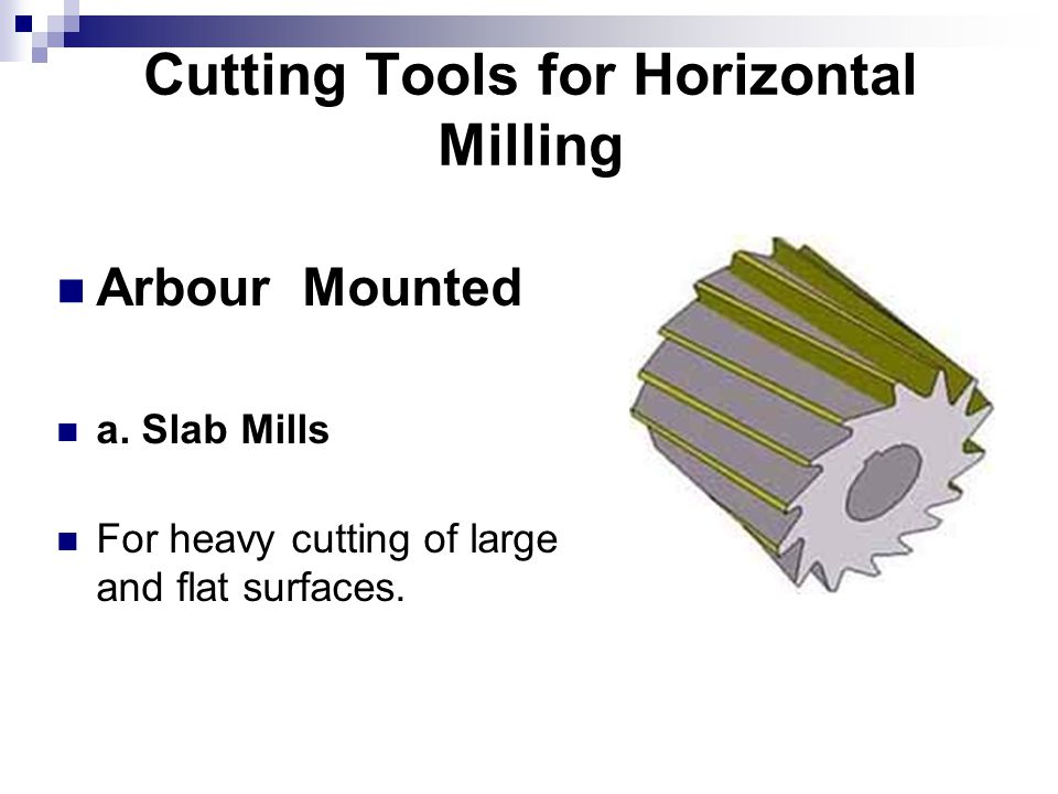 Cutting Tools for Horizontal Milling