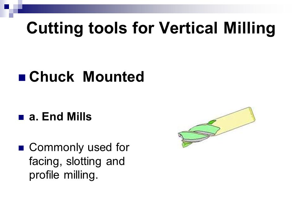 Cutting tools for Vertical Milling