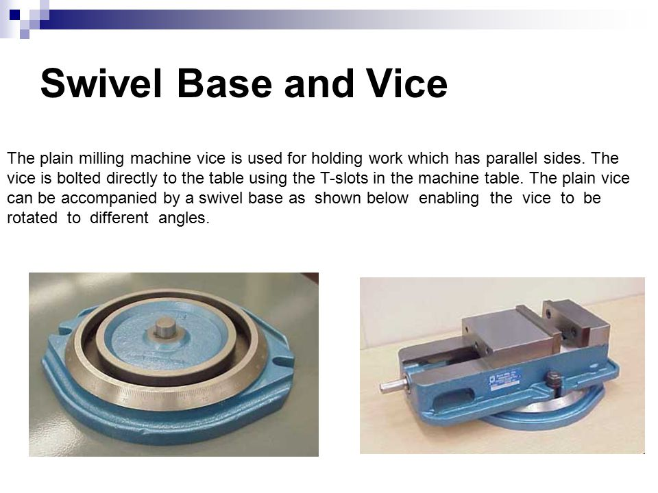 Swivel Base and Vice