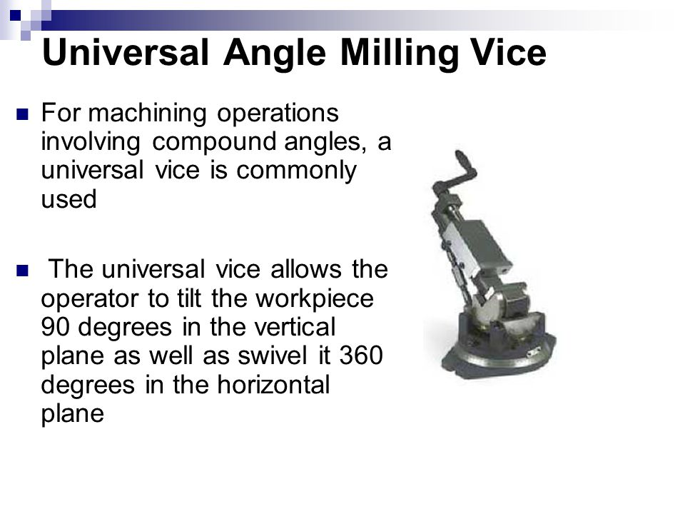 Universal Angle Milling Vice