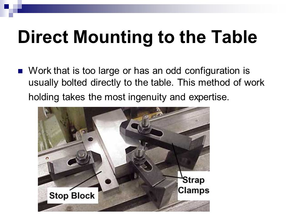 Direct Mounting to the Table