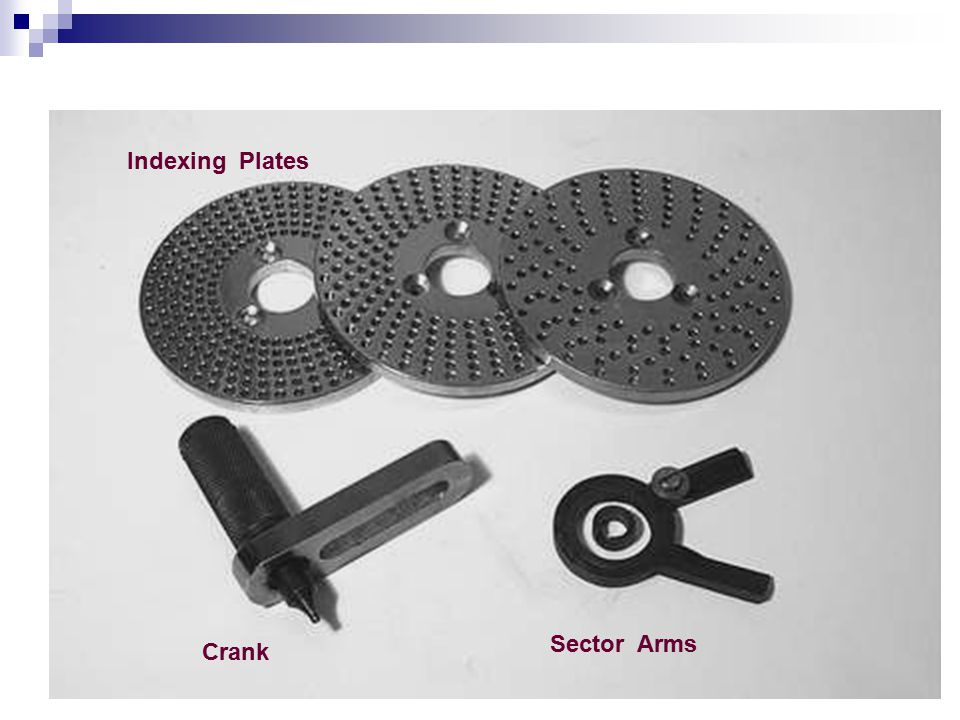 Indexing Plates Sector Arms Crank