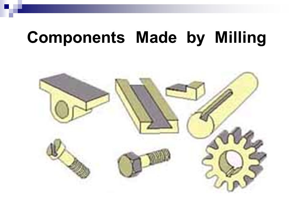 Components Made by Milling