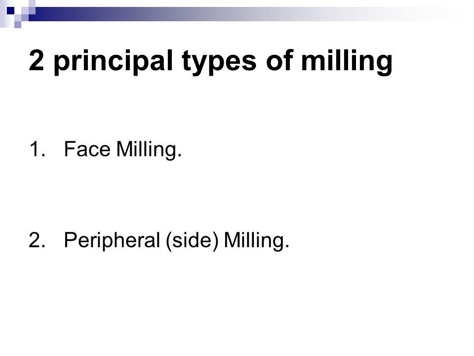 2 principal types of milling
