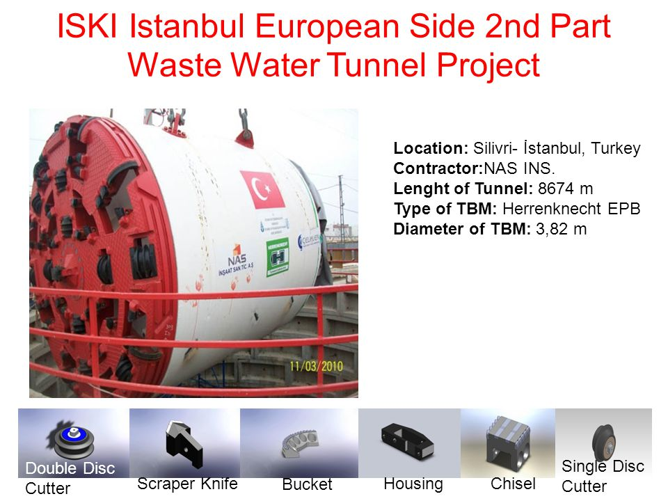 ISKI Istanbul European Side 2nd Part Waste Water Tunnel Project