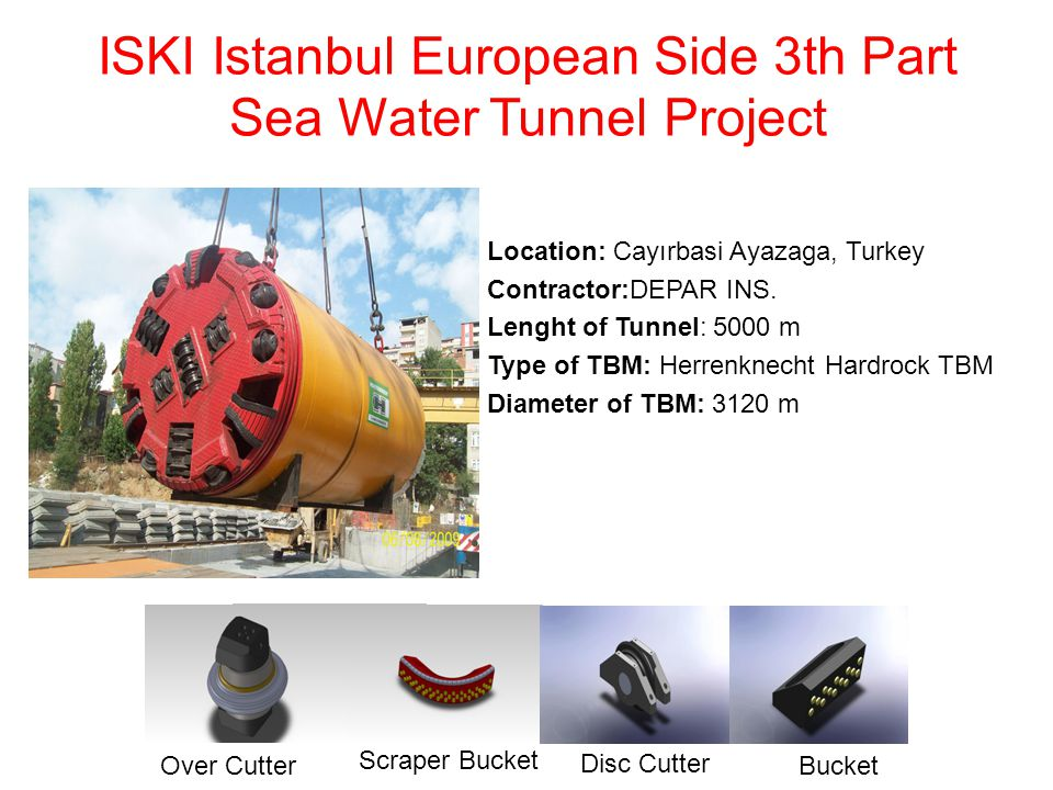 ISKI Istanbul European Side 3th Part Sea Water Tunnel Project