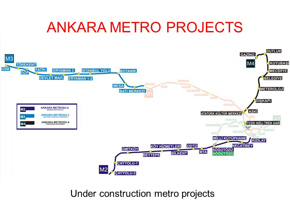 ANKARA METRO PROJECTS Under construction metro projects