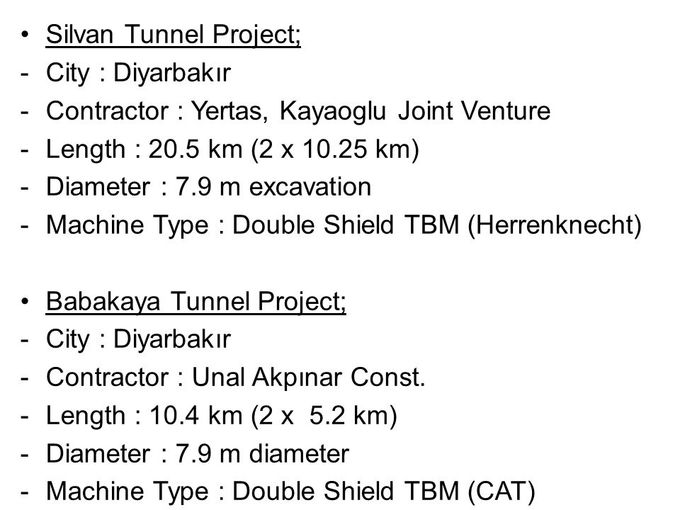 Silvan Tunnel Project;