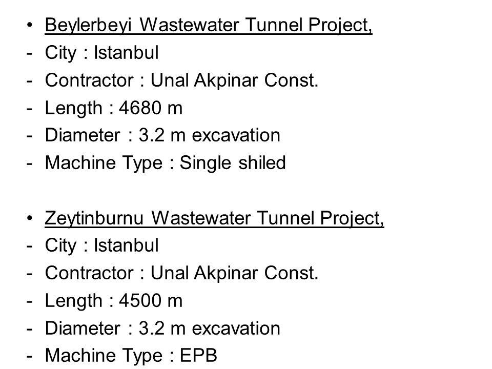 Beylerbeyi Wastewater Tunnel Project,