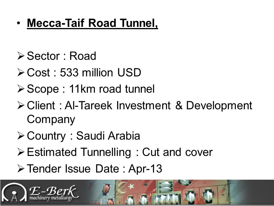 Mecca-Taif Road Tunnel,