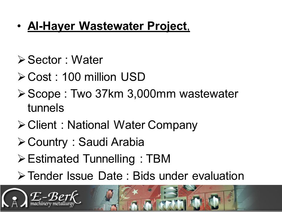 Al-Hayer Wastewater Project,