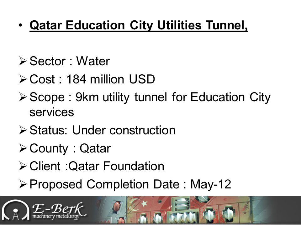 Qatar Education City Utilities Tunnel,