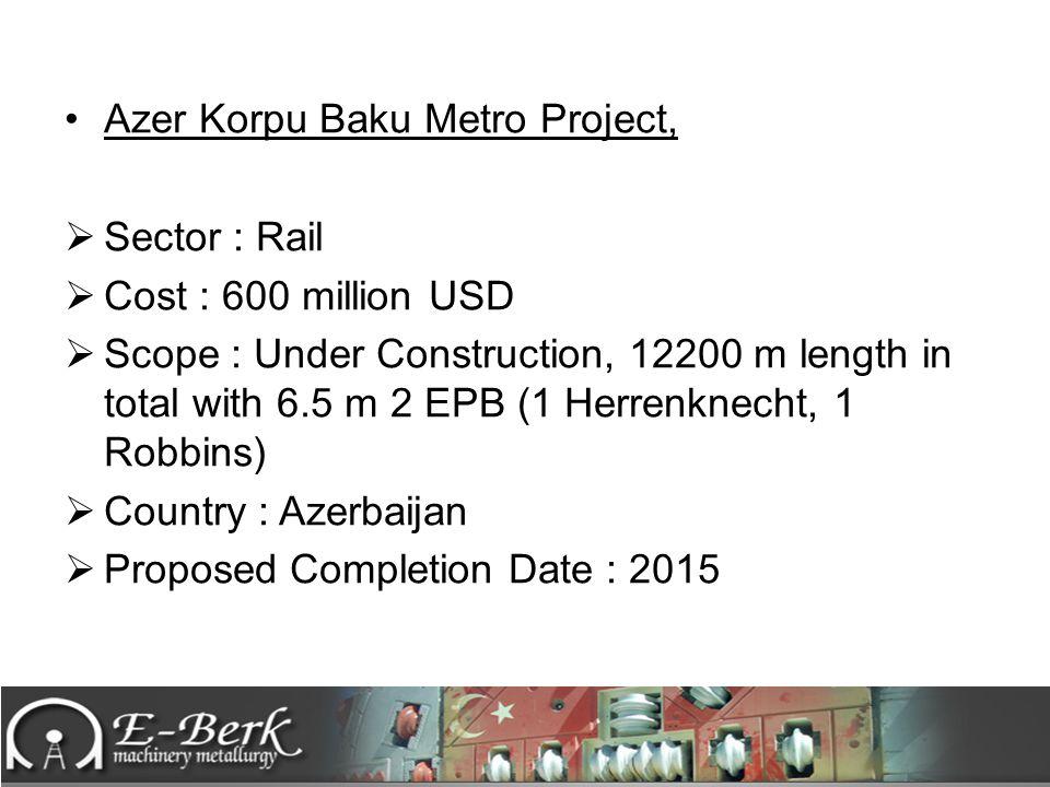 Azer Korpu Baku Metro Project,