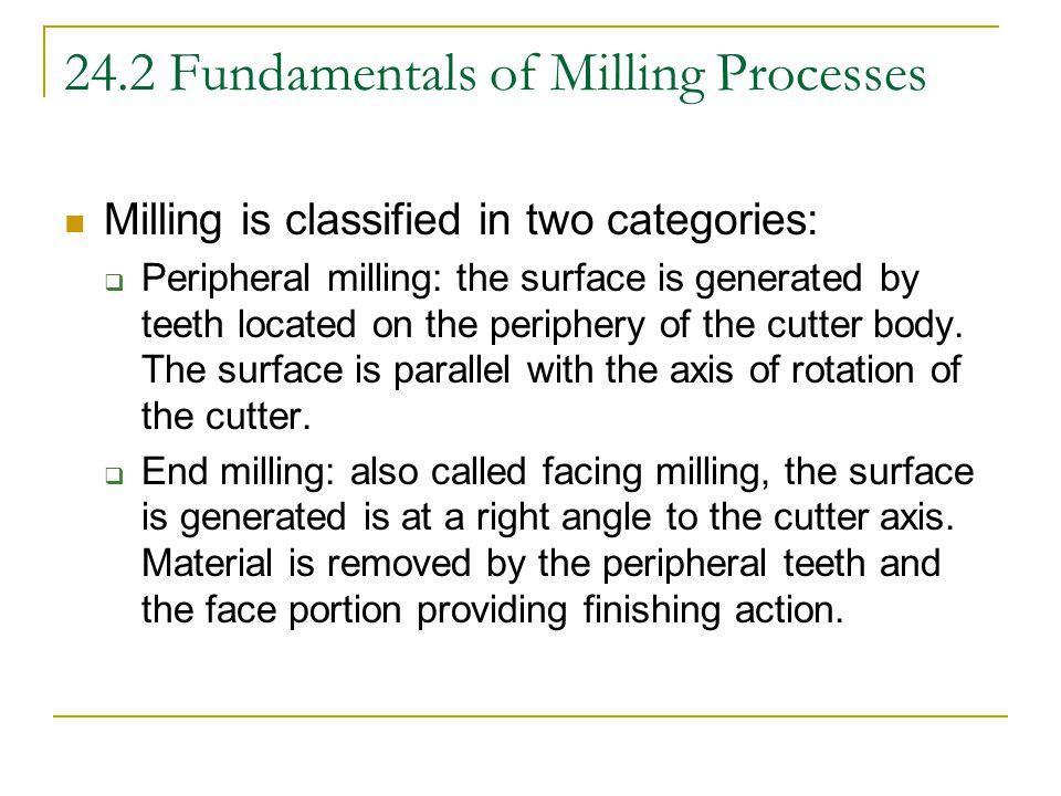 24.2 Fundamentals of Milling Processes