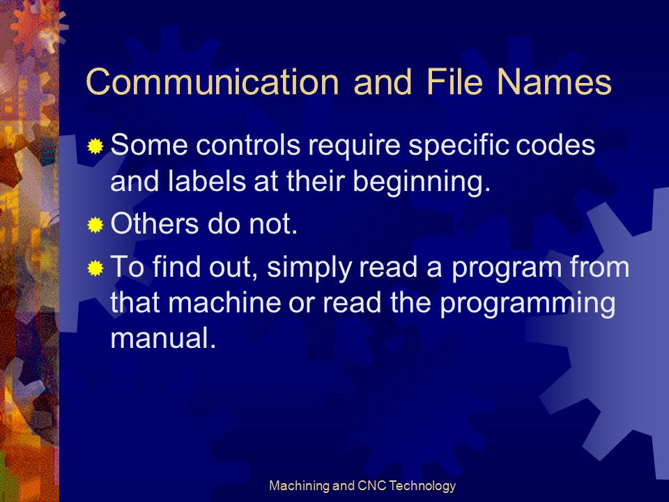 Communication and File Names