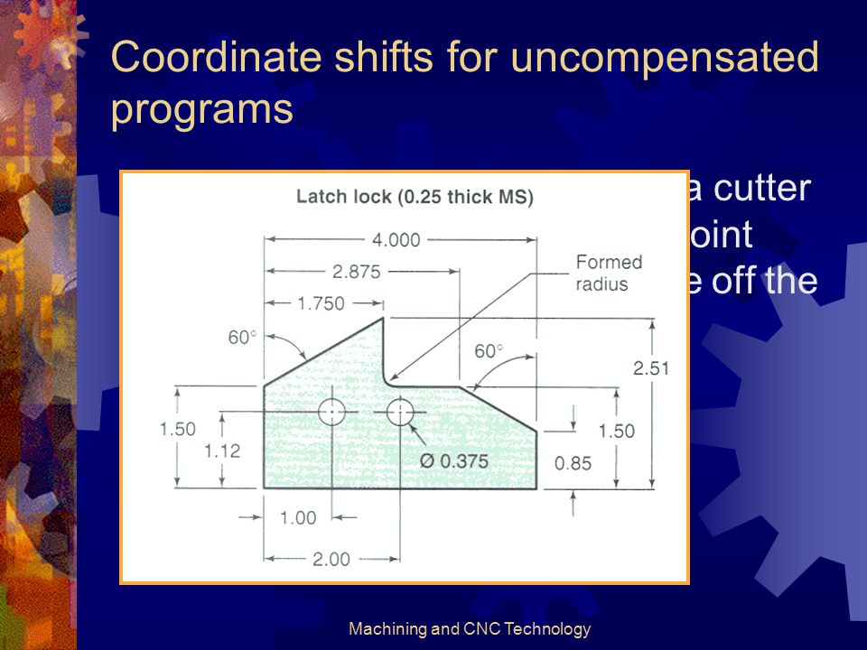 Coordinate shifts for uncompensated programs