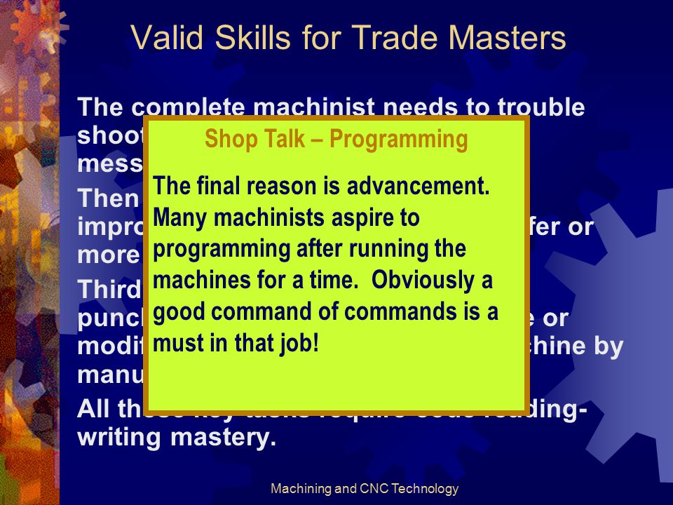 Valid Skills for Trade Masters