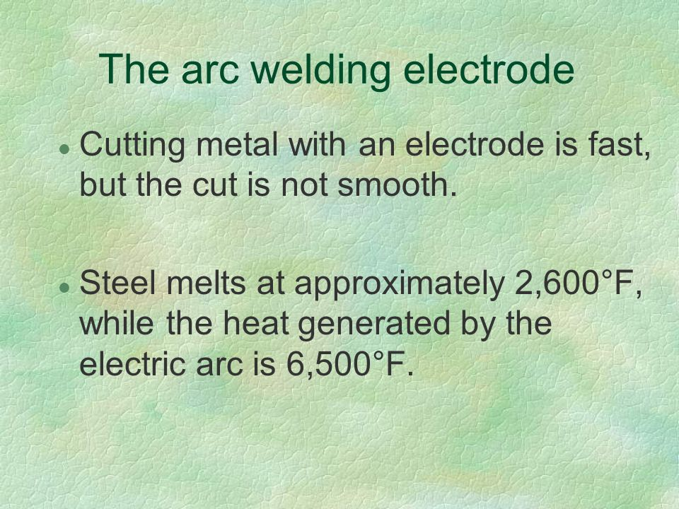 The arc welding electrode