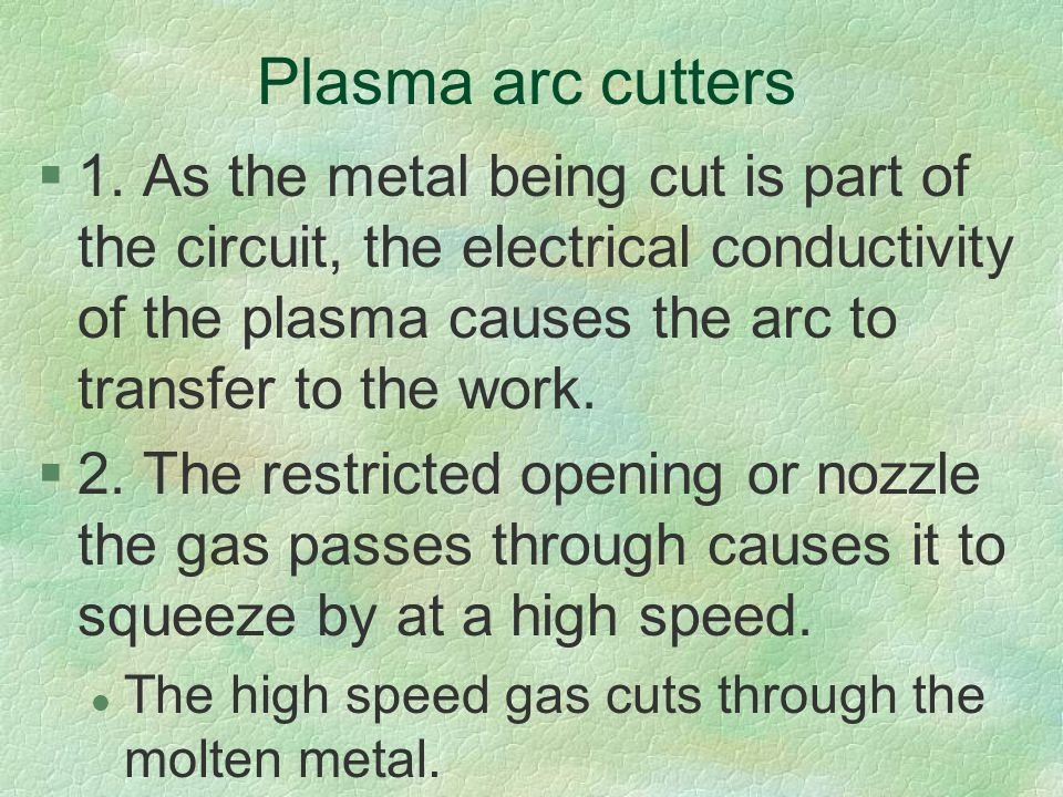 Plasma arc cutters