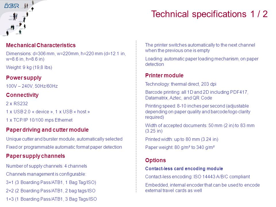 Technical specifications 1 / 2