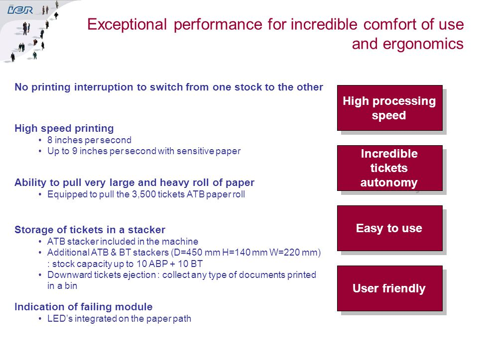 Incredible tickets autonomy