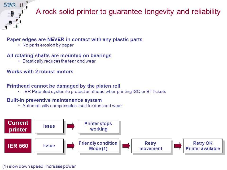 A rock solid printer to guarantee longevity and reliability