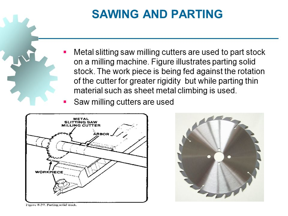 SAWING AND PARTING
