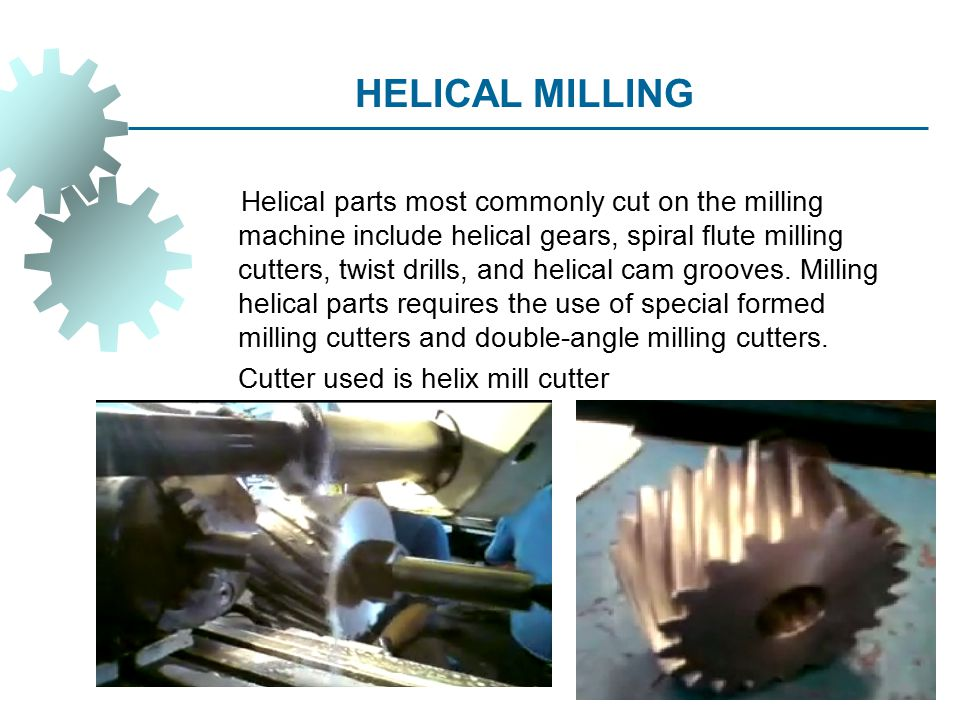 HELICAL MILLING