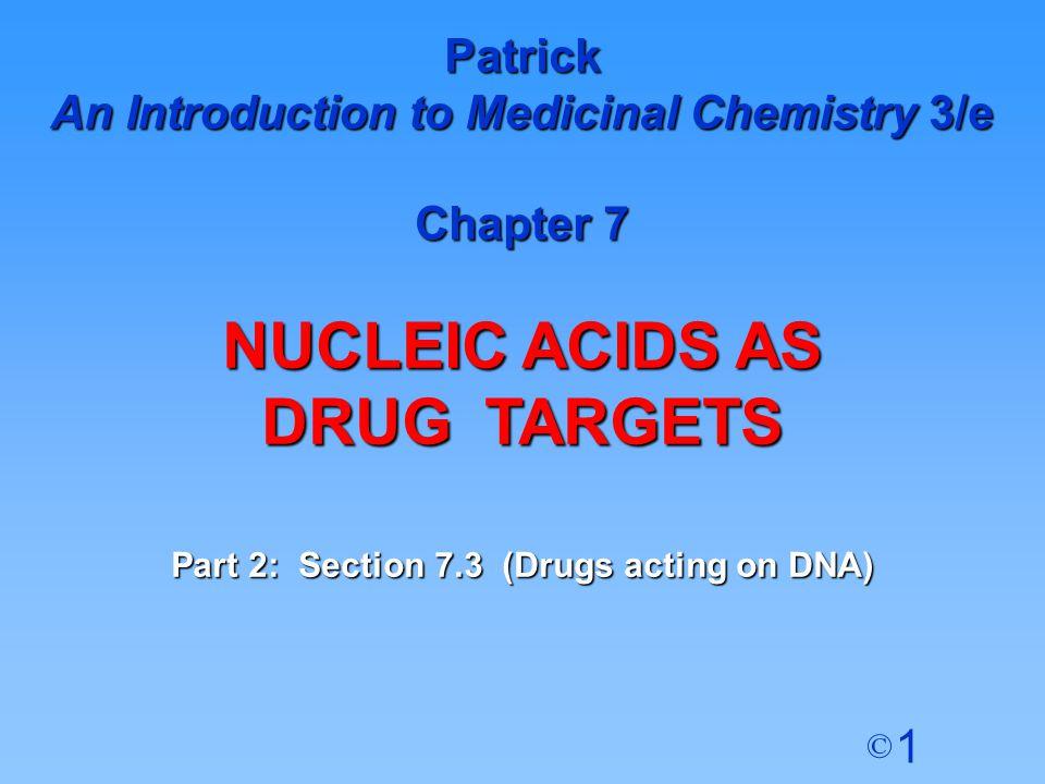 NUCLEIC ACIDS AS DRUG TARGETS