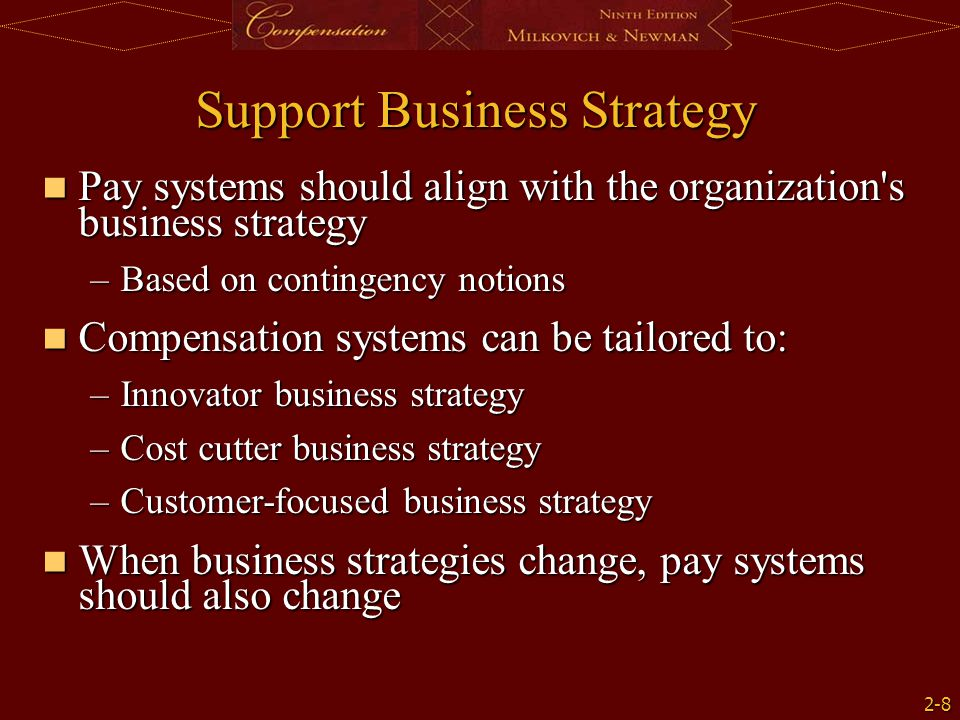Support Business Strategy