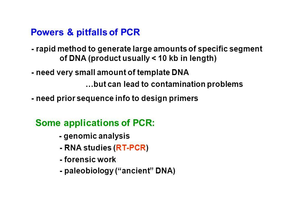 Powers & pitfalls of PCR