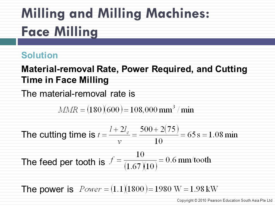 Milling and Milling Machines: Face Milling