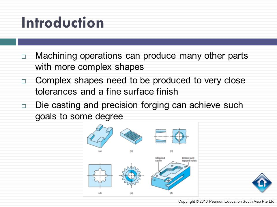 Introduction Machining operations can produce many other parts with more complex shapes.