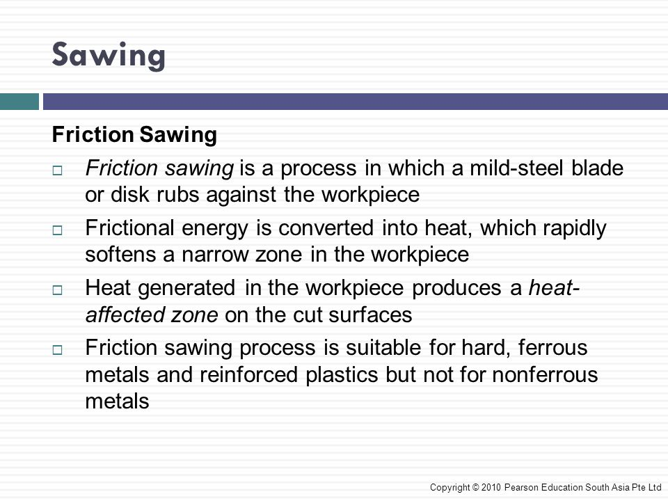 Sawing Friction Sawing