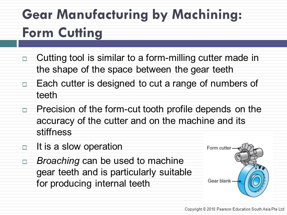 Gear Manufacturing by Machining: Form Cutting
