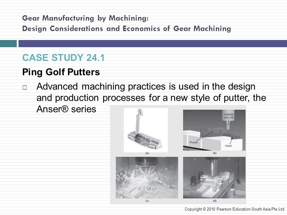 CASE STUDY 24.1 Ping Golf Putters