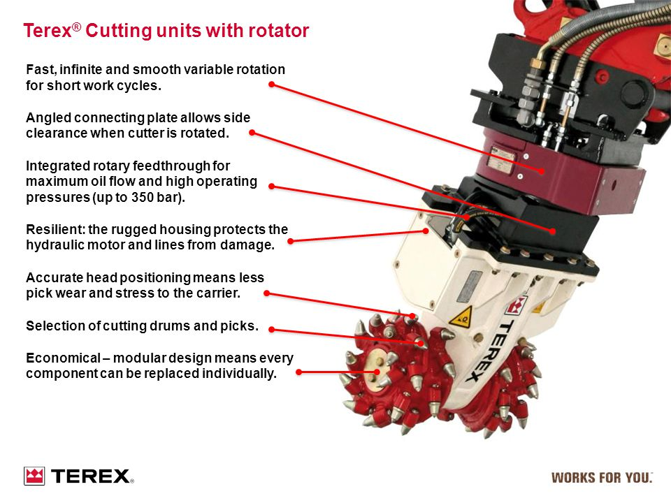 Terex® Cutting units with rotator
