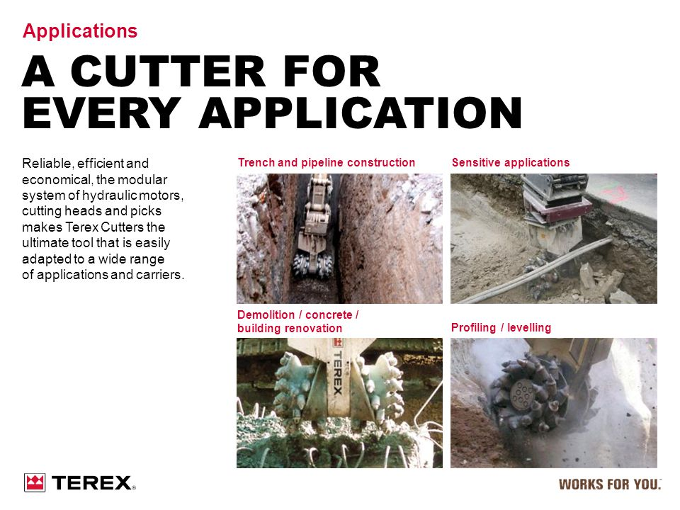 A Cutter For Every Application Applications