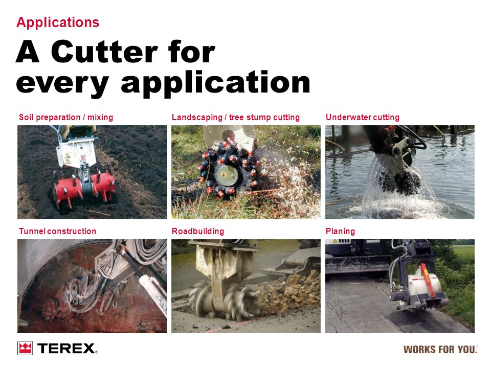 A Cutter for every application Applications Soil preparation / mixing