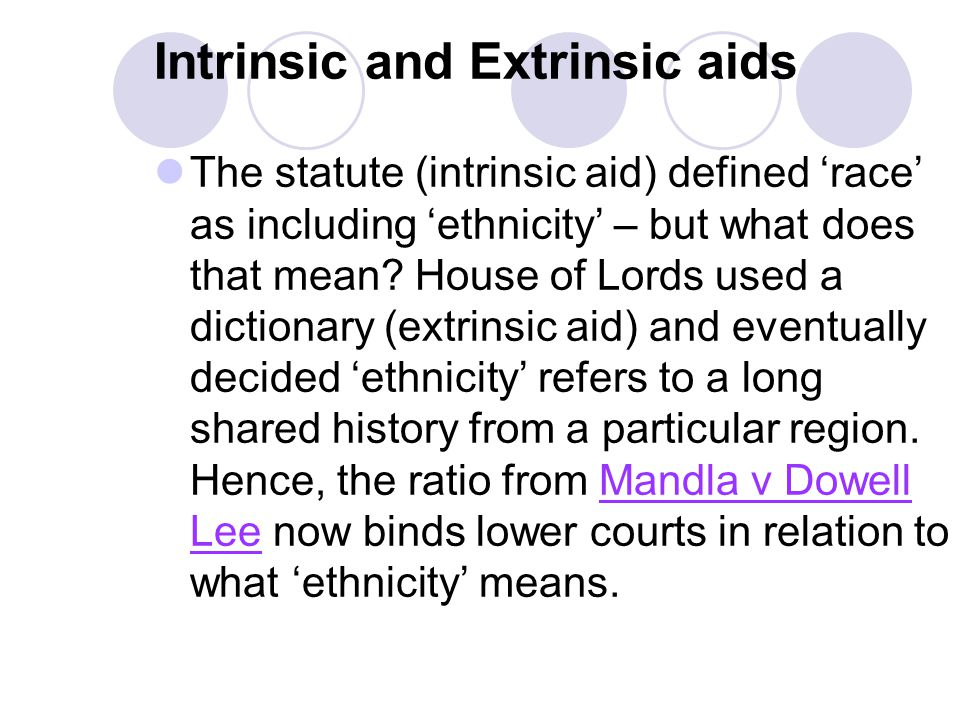 Intrinsic and Extrinsic aids