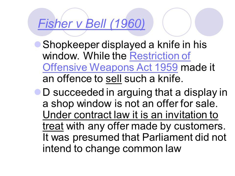 Fisher v Bell (1960)