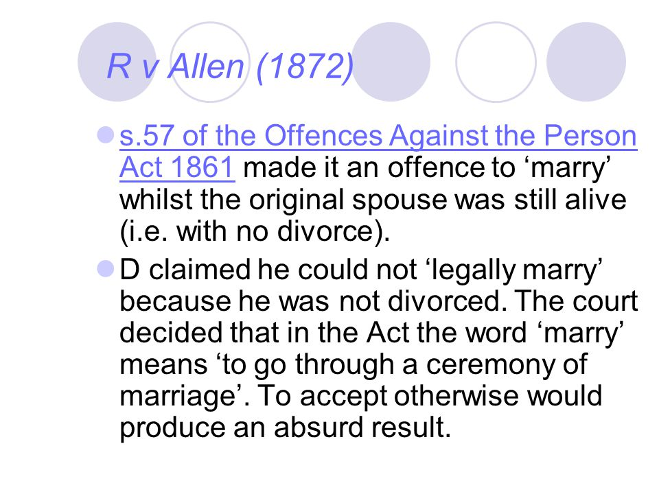 R v Allen (1872)